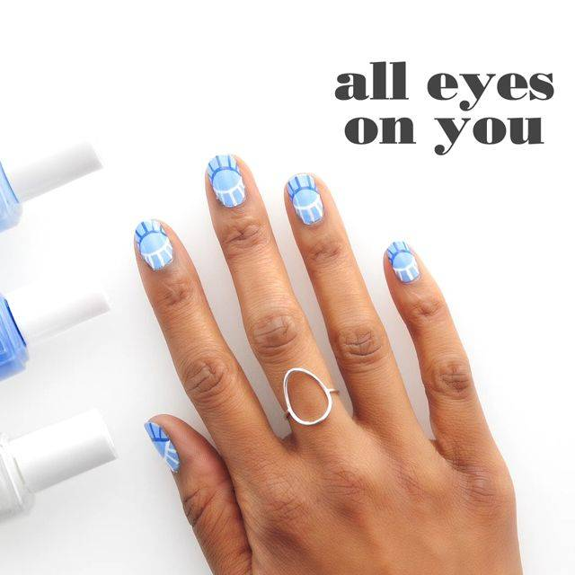 all eyes on you nail art