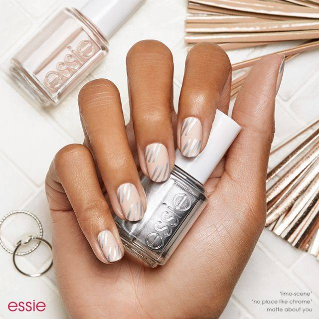 bare-ly there nail art