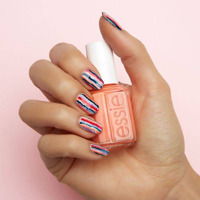 blurred lines nail art