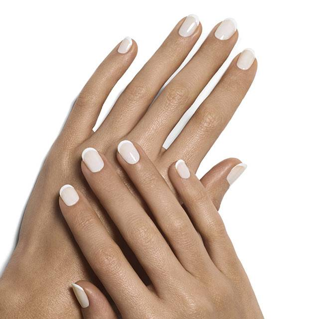 marshmallow french manicure