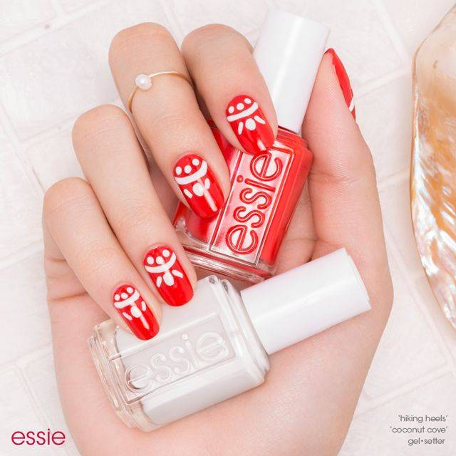 sweet summer crush nail art