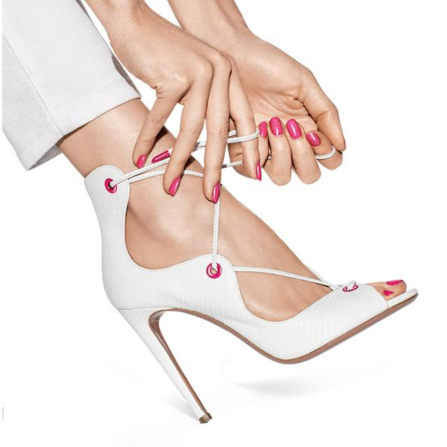 step out in the perfect essie pedicure